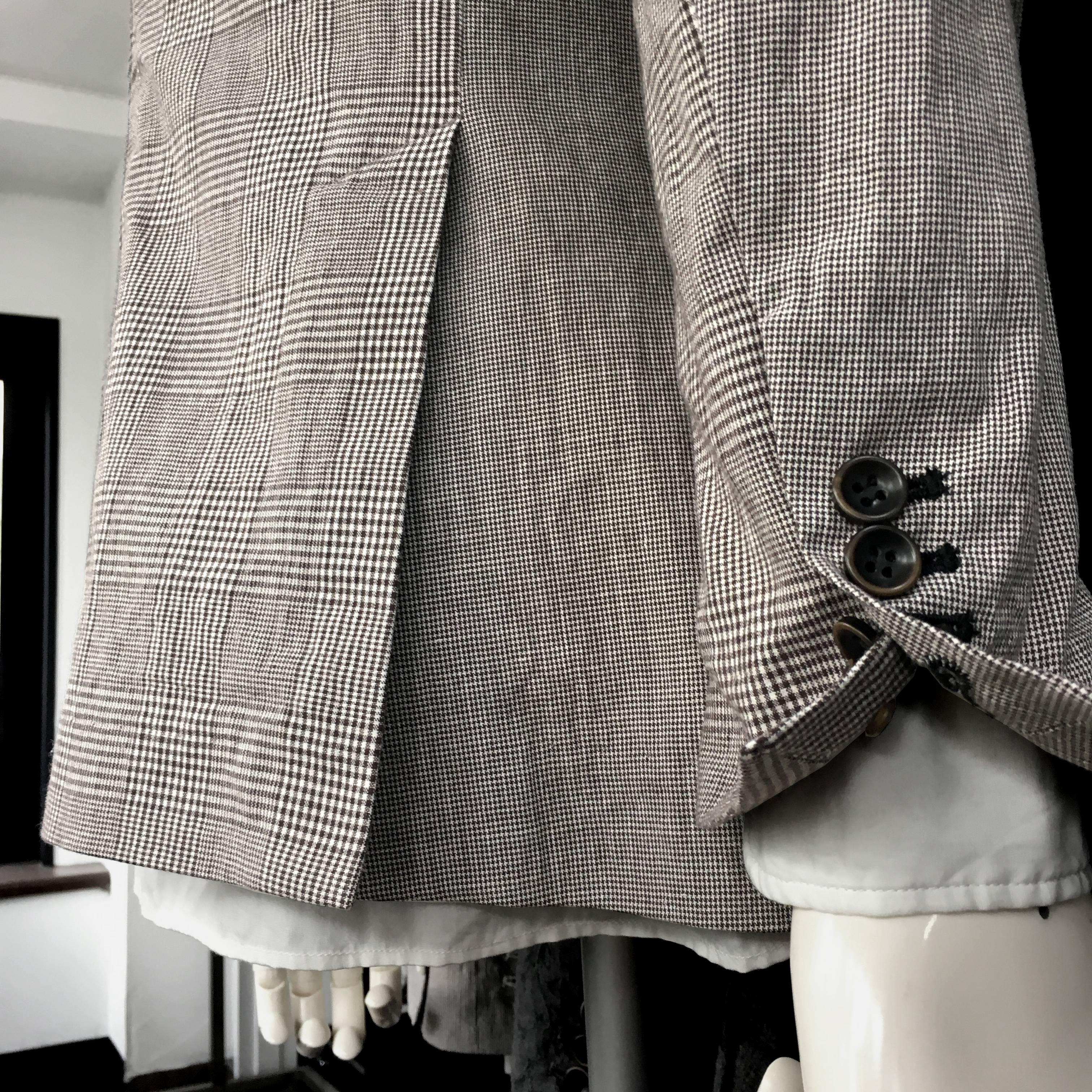 グレンチェック ドッグトゥージャケット