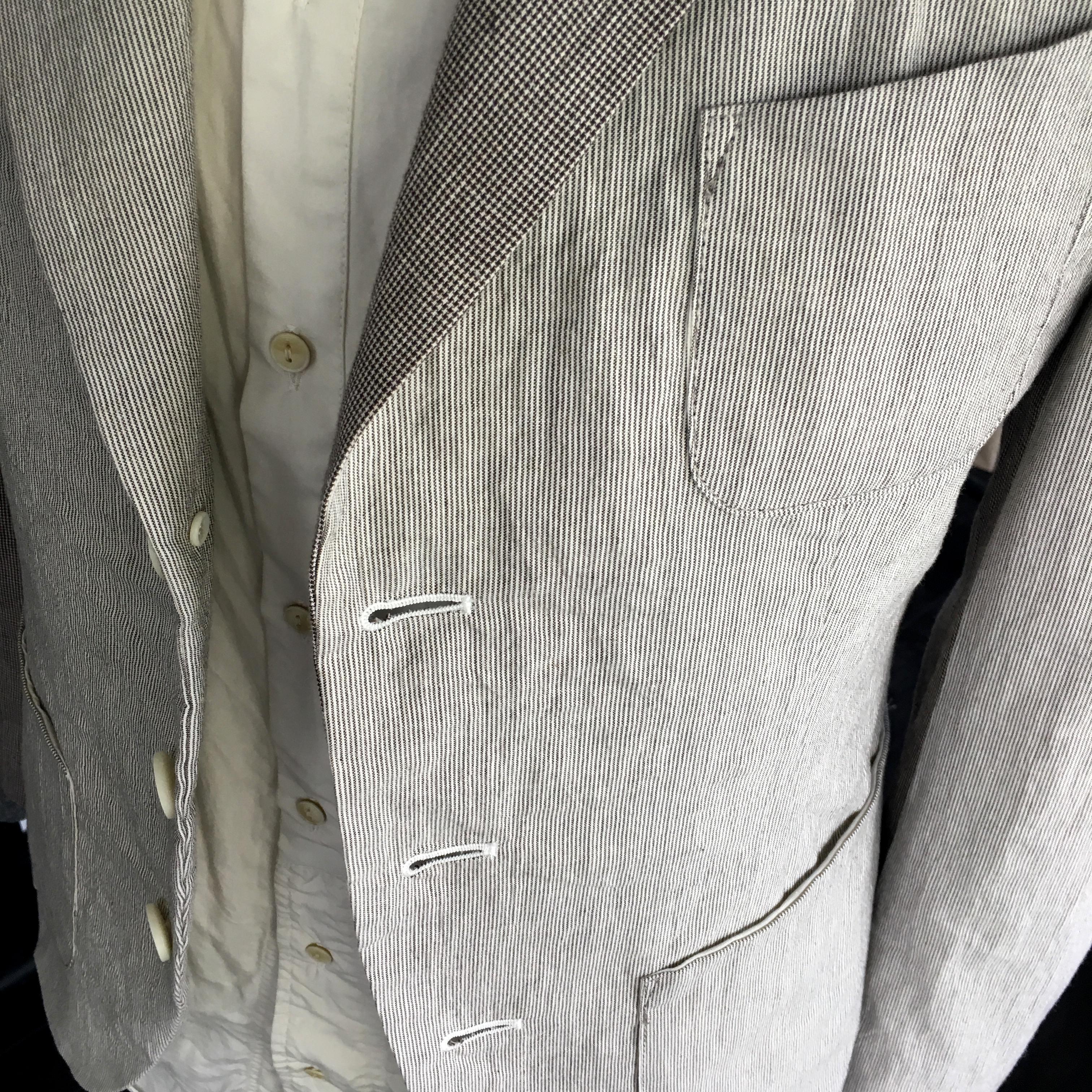 ストライプ ドッグトゥース ジャケット